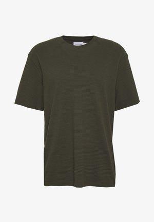 RIFLE STRUCTURED TEE - T-shirt basic - khaki