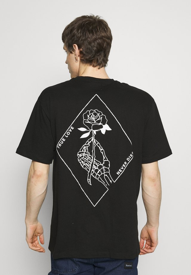 ROSE IMMORTALITY TEE - T-shirt con stampa - black