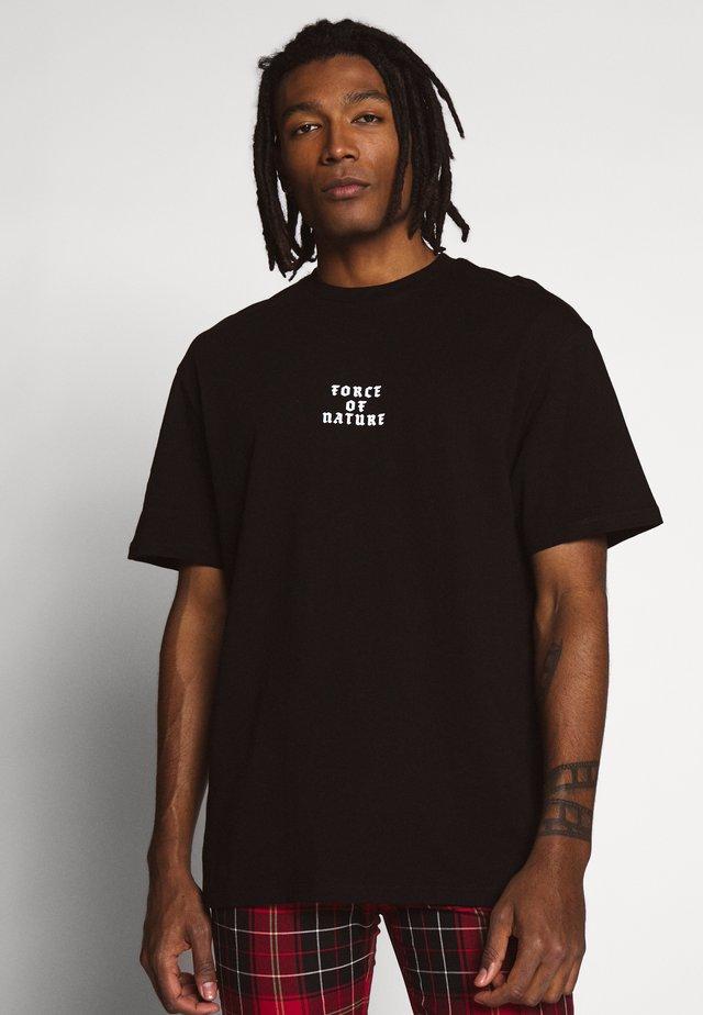 BLACK SACRED DRAGON TEE - T-shirt con stampa - black