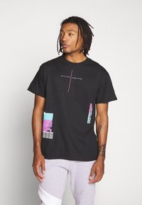 Topman - EVERYTHING TEE - T-shirt med print - black - 0