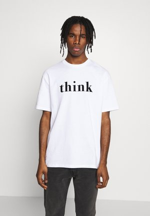 THINK SLOGAN TEE - T-shirt imprimé - white