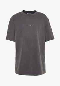 Topman - UNISEX PARIS PUFF WASH - T-shirt print - black - 0