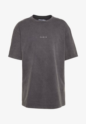 UNISEX PARIS PUFF WASH - T-shirt con stampa - black