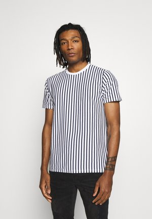 STRIPE - T-shirt con stampa - white