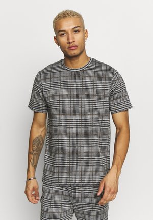 CHECK TEE - T-shirt med print - grey