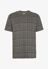 Topman - CHECK TEE - T-shirt con stampa - grey - 4