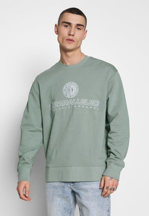 SAGE FRONT & BACK CIRCLE GRAPHIC CREW - Sweatshirt - light green