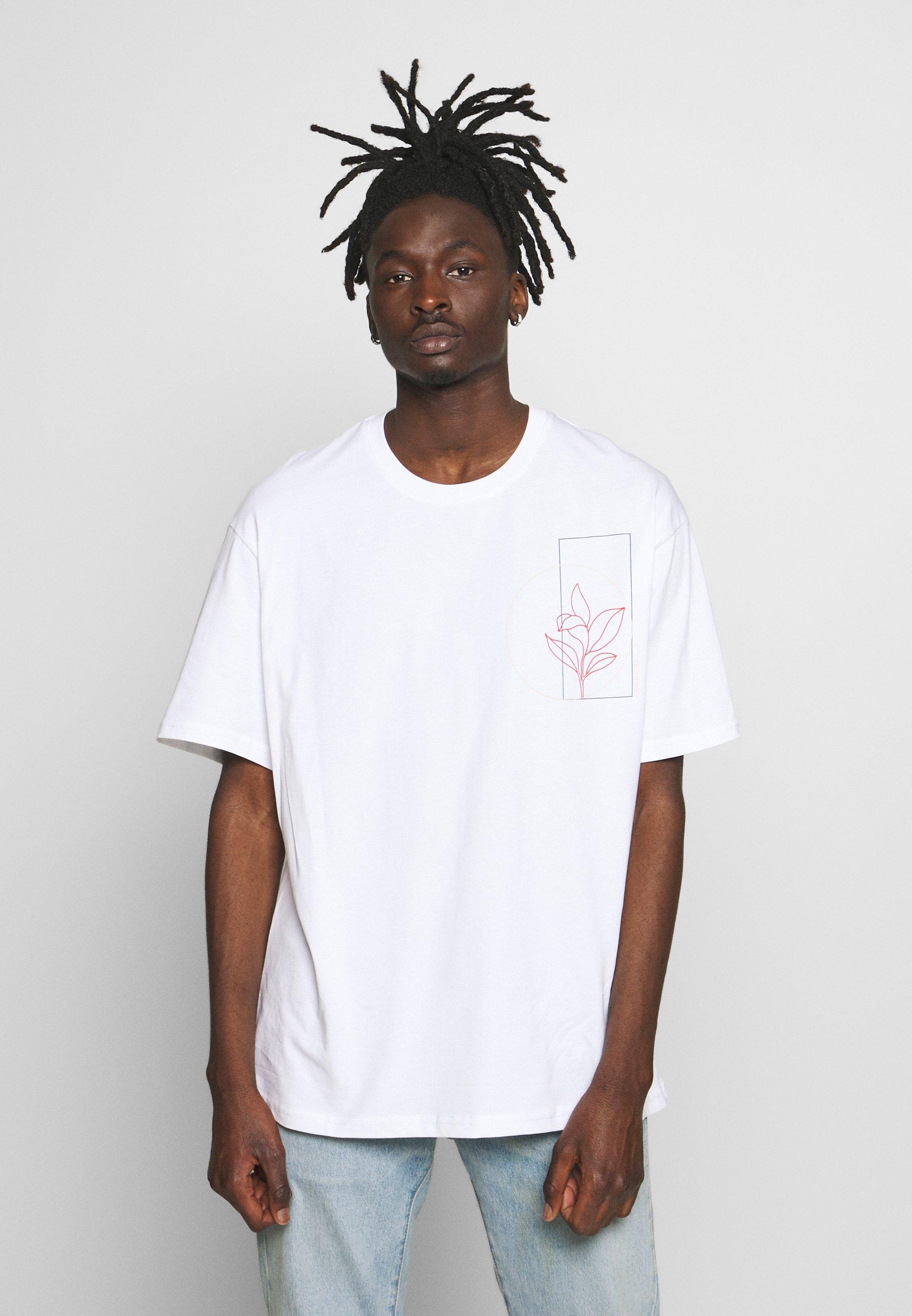 Topman SKETCH COSMIC TEE - T-shirt z nadrukiem - white