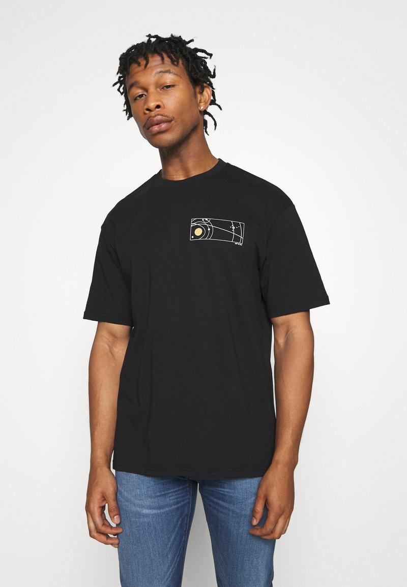 Topman - UNISEX SKETCH COSMIC TEE - Print T-shirt - black