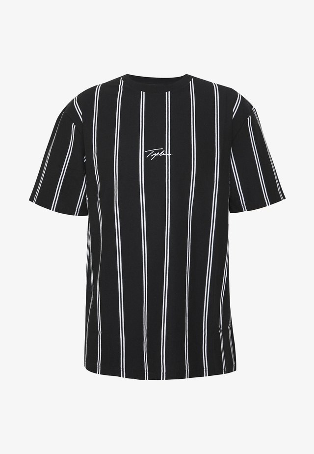 STRIPE SIGNATURE TEE - T-shirts print - black