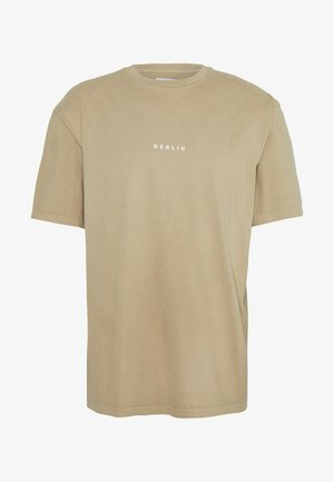 BERLIN WASH  - Basic T-shirt - stone