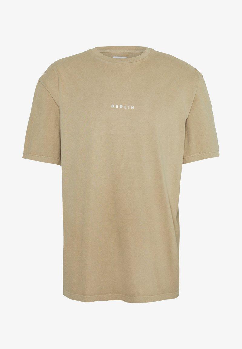 Topman - BERLIN WASH  - T-shirt basique - stone