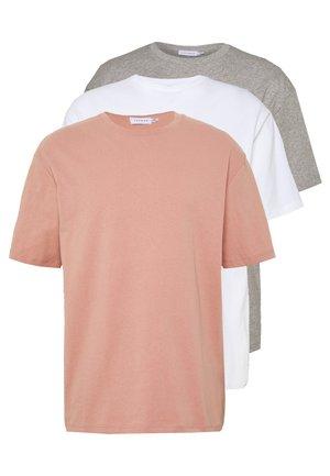 3 PACK - T-shirt basique - multi