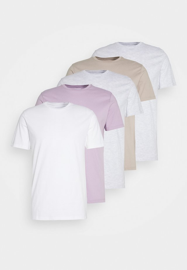 TEE 5 PACK - Basic T-shirt - multicoloured