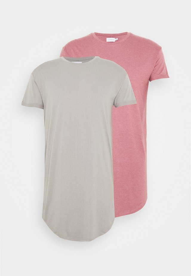 2 PACK SCOTTY  - T-shirt basic - pink/stone