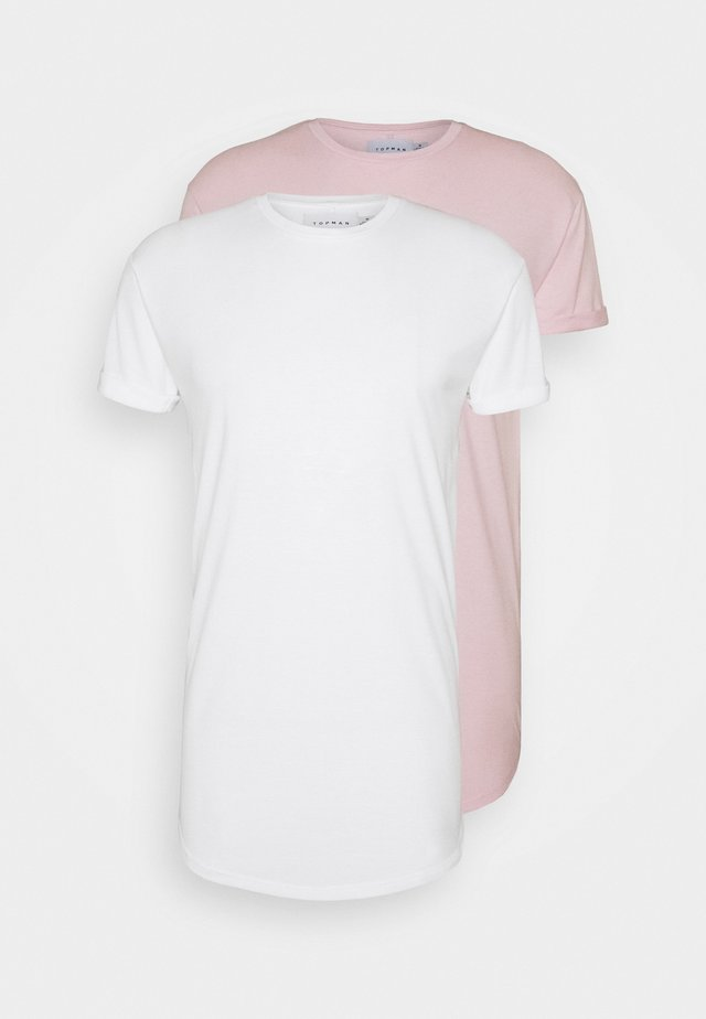 T-shirt basic - white/pink