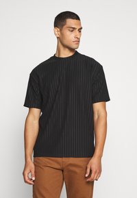 Topman - SHINY - T-shirt con stampa - black - 0