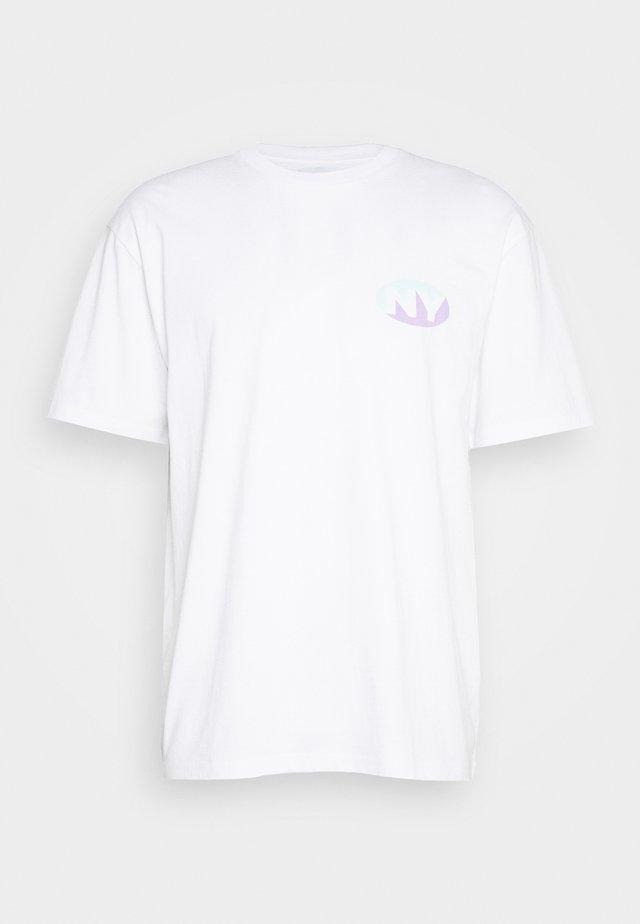 SQUARE TEE - T-Shirt print - white