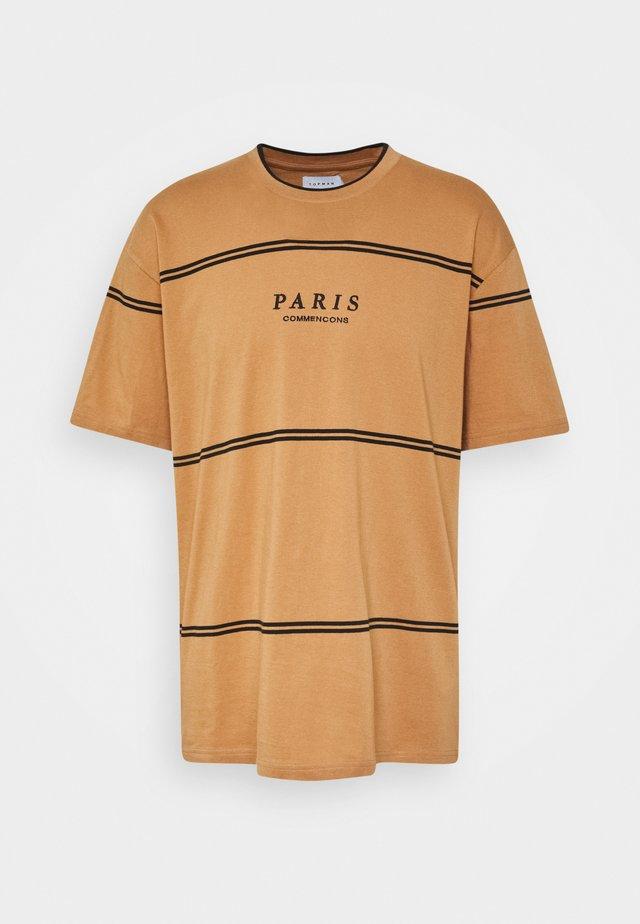 PARIS TIP - T-shirt print - mustard