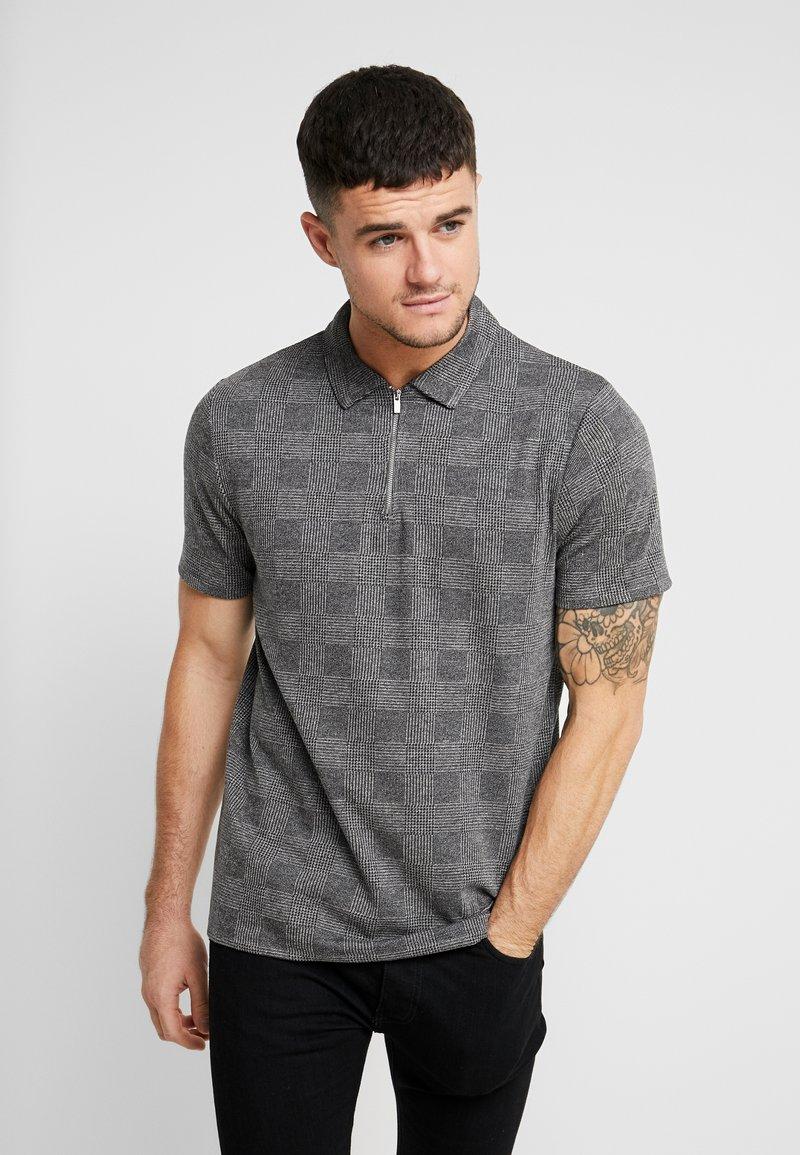 Topman - POW POLO - Polo shirt - charcoal