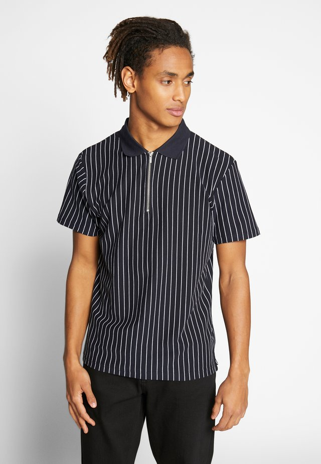 BROKEN STRIPE - Polo - navy