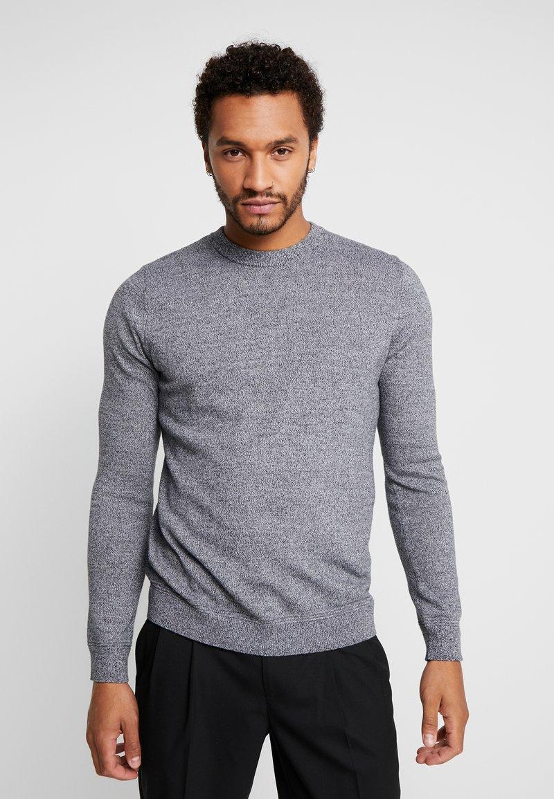 Topman - SALT PEPPER CREW  - Sweter - grey
