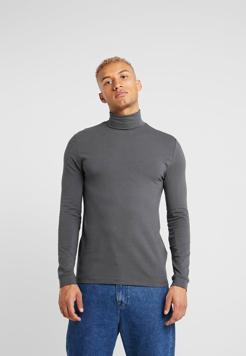 Topman - ROLL NECK - Topper langermet - dark grey