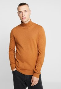 Topman - BASIC ROLL - Jersey de punto - brown - 0