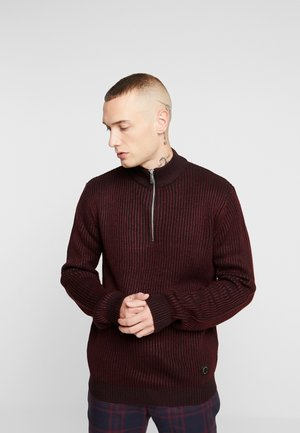 PLAITED TURTLE - Jumper - bordeaux