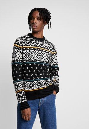 FAIRISLE - Pullover - black