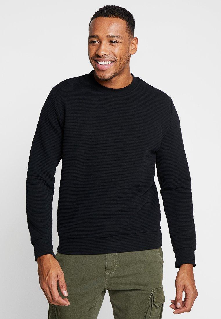 Topman - BLACK OTTOMAN  - Sweatshirt - black