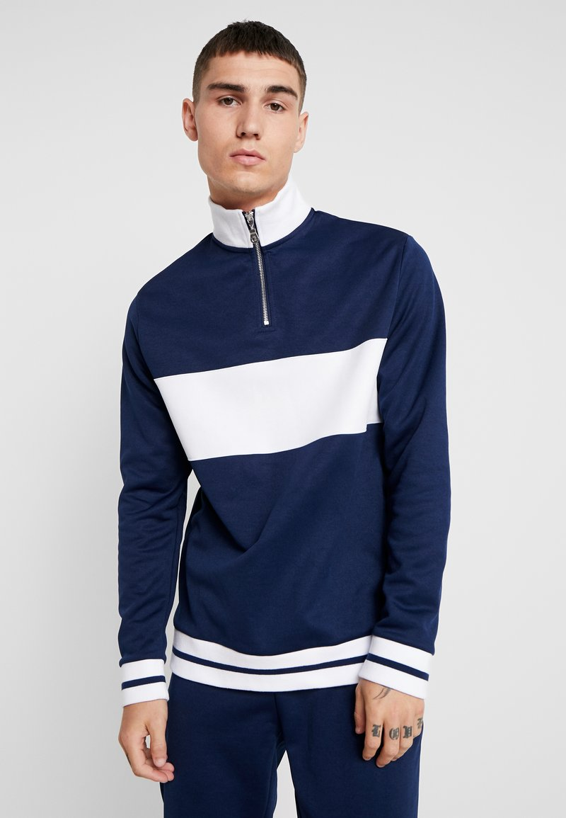 Topman - TRICO TRACK - Sweatshirt - navy