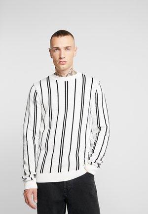 STRIPE CREW - Stickad tröja - off white