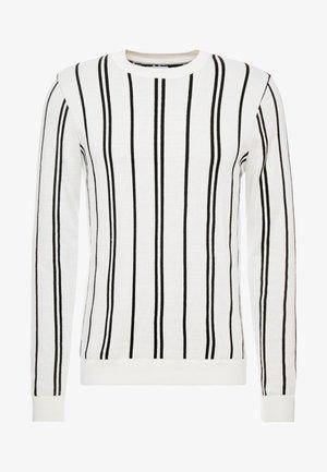 STRIPE CREW - Strickpullover - off white