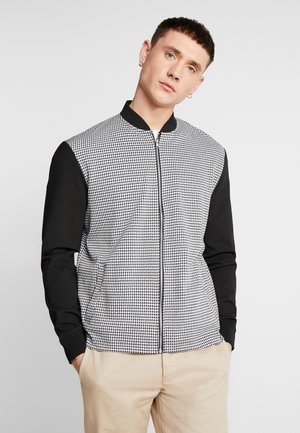 DOGTOOTH THROUGH - Zip-up hoodie - black/white