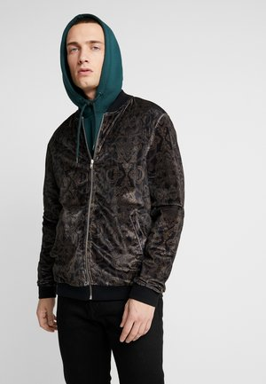 VELVET BAROQUE - veste en sweat zippée - black