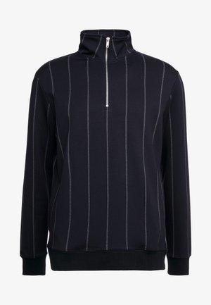 PINSTRIPE TRACK - veste en sweat zippée - navy