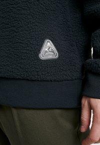 Topman - CHARCOAL BORG CREW - Fleece trui - grey - 5