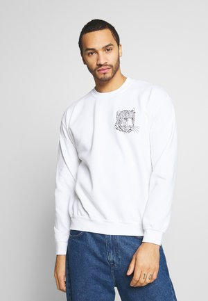 WHITE LEOPARD - Sweatshirt - white