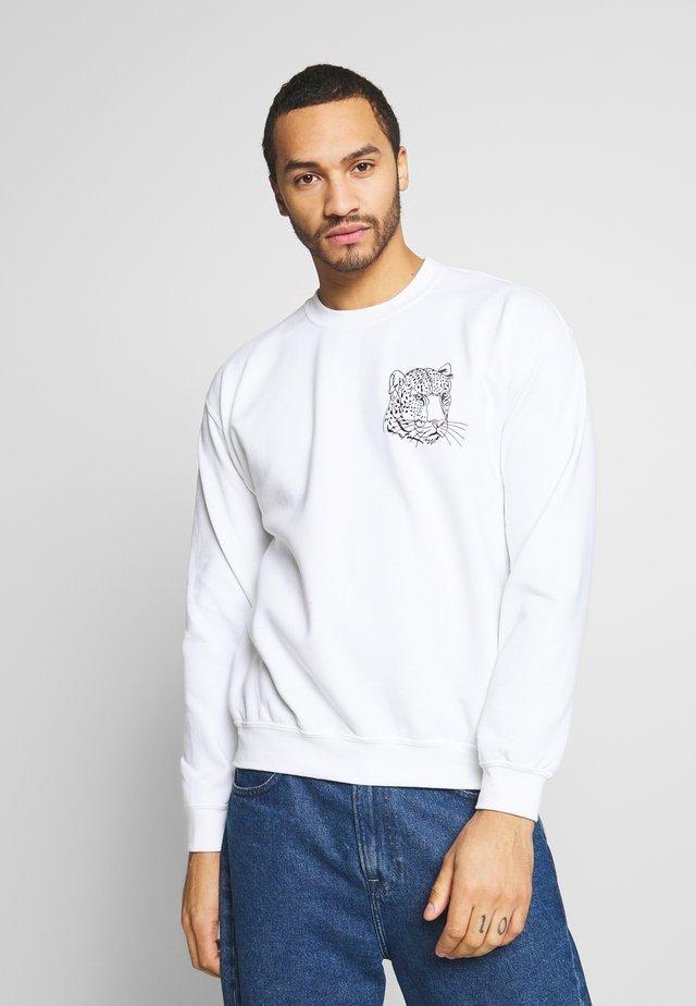 WHITE LEOPARD - Collegepaita - white