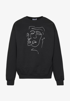 LINE FACE - Sweatshirt - black