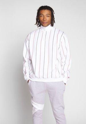 STRIPE FUNNEL - Sweatshirt - white