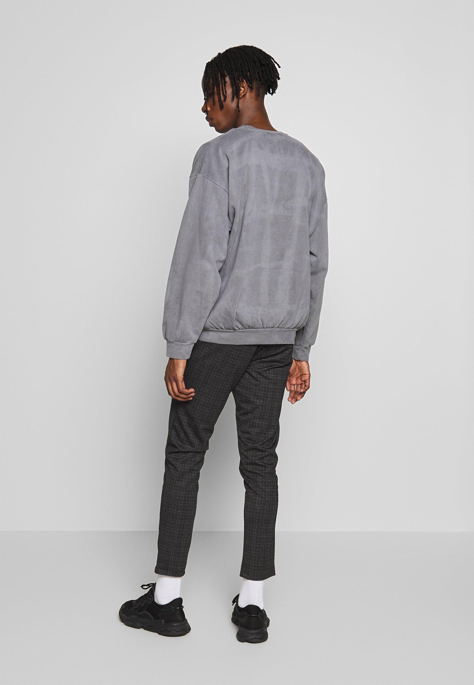Topman Black Washed Berlin - Sweatshirts Grey