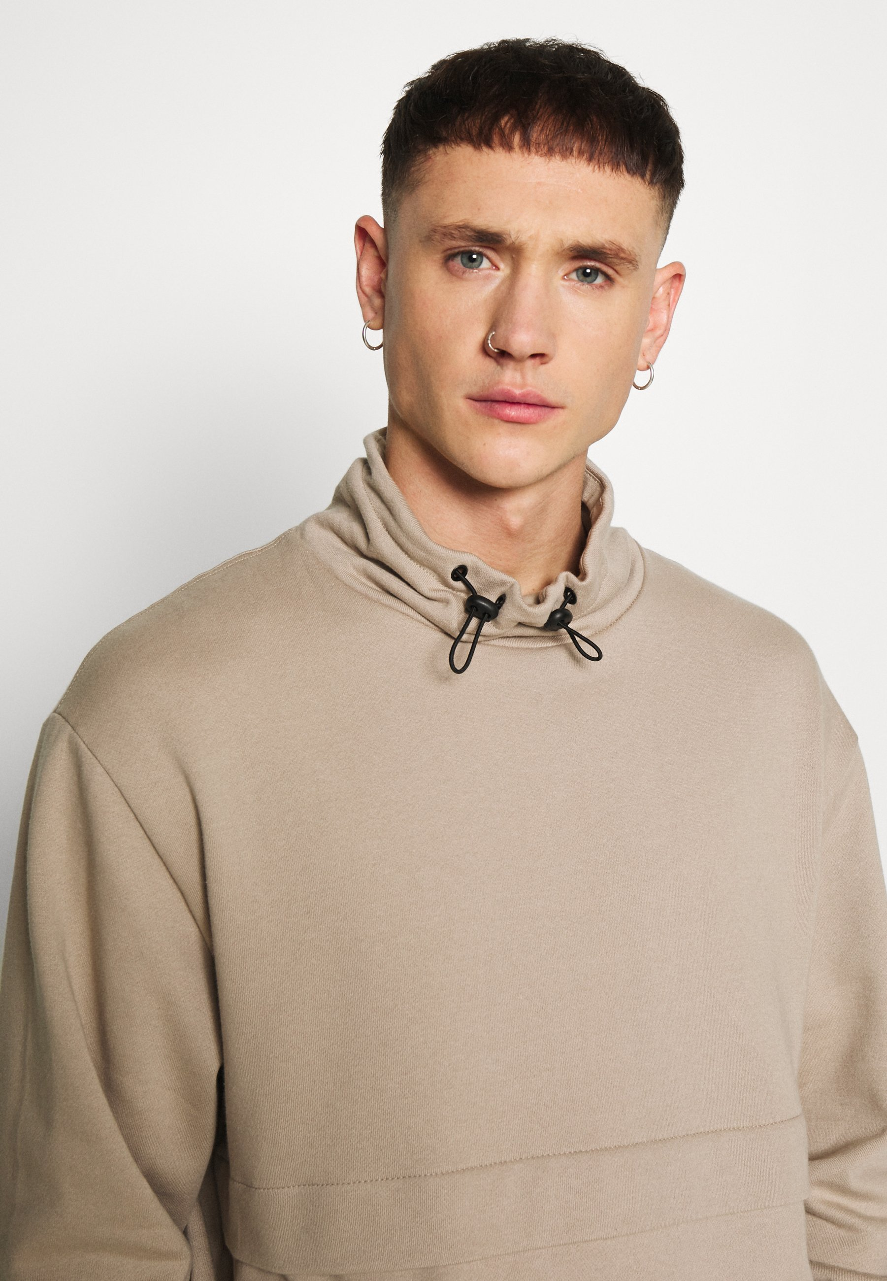 Topman Stucco Mix Funnel - Sweatshirt Stone/beige