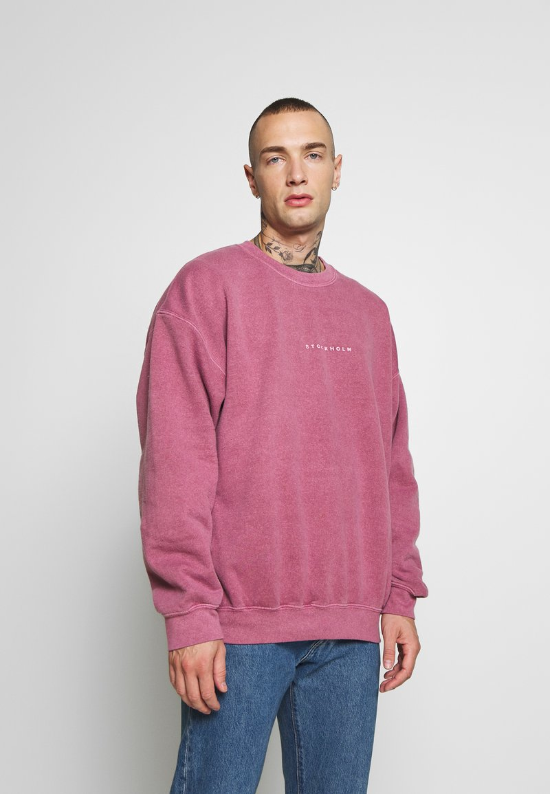 Topman - BURG WASHED STOCKHOLM  - Sweatshirt - mauve