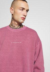 Topman - BURG WASHED STOCKHOLM  - Sweatshirt - mauve - 3