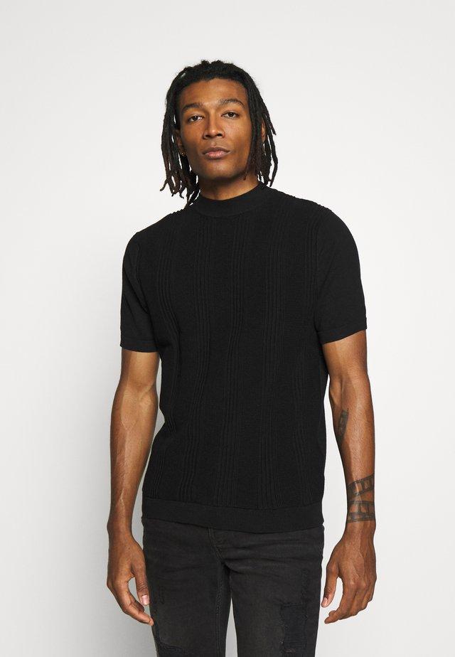 STITCH TURTLE - T-shirt med print - black