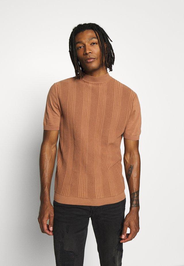 CAFÉ AU LAIT STITCH TURTLE - T-shirt print - brown