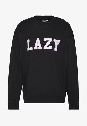 UNISEX LAZY CREW - Sweatshirt - black