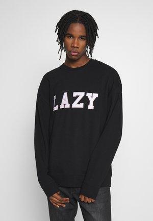 UNISEX LAZY CREW - Sweatshirts - black